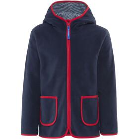 Finkid Tonttu Zip-In Fleece Jacket Kids Navy/Red